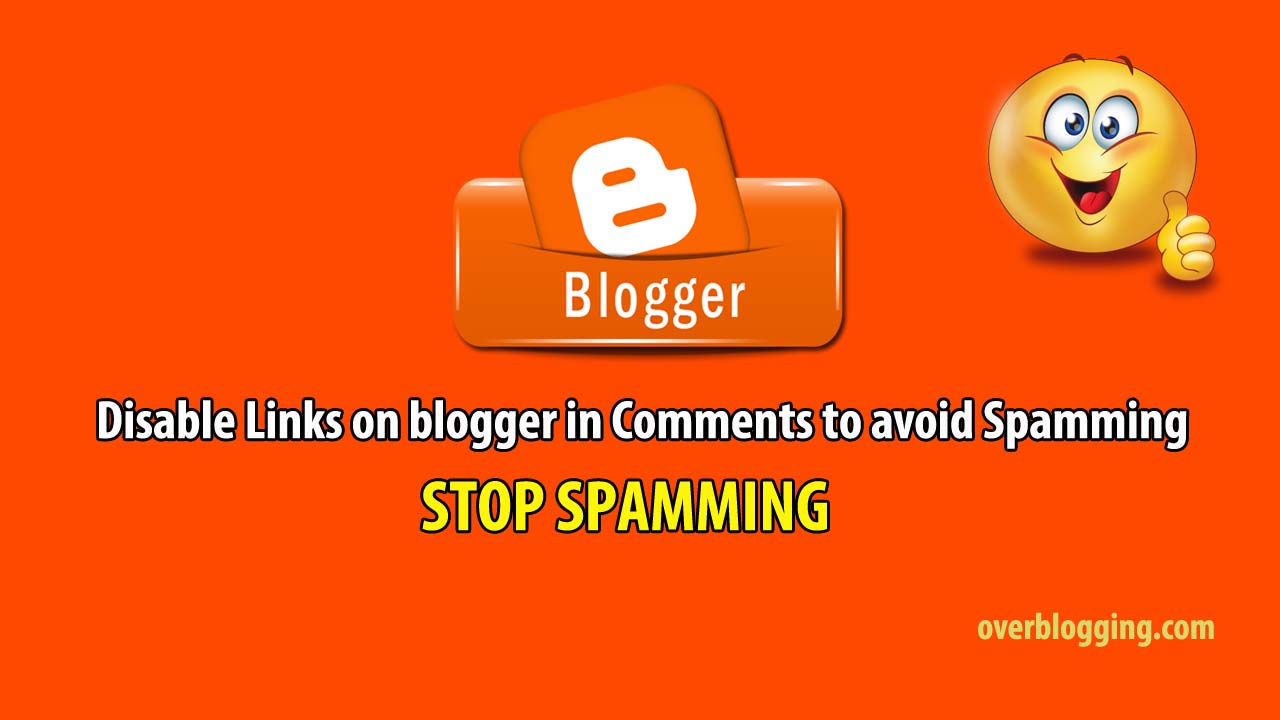 disable spamming in blogger