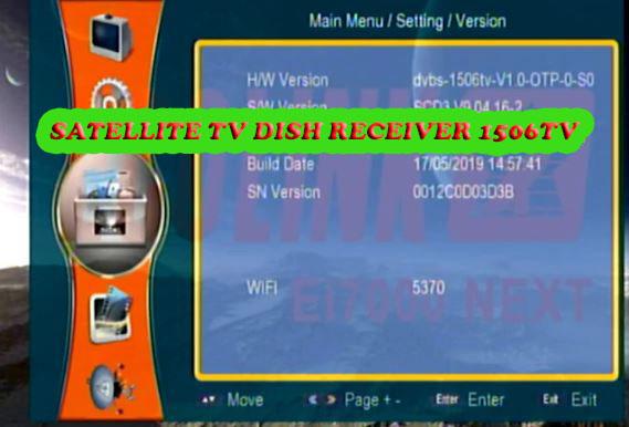 SATELLITE TV DISH RECEIVER 1506TV