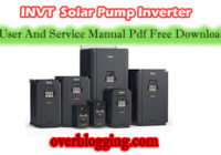 INVT solar pump inverter user and service manual pdf free download