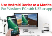 How to use Android Mobile as a Monitor for Windows PC with USB or app.